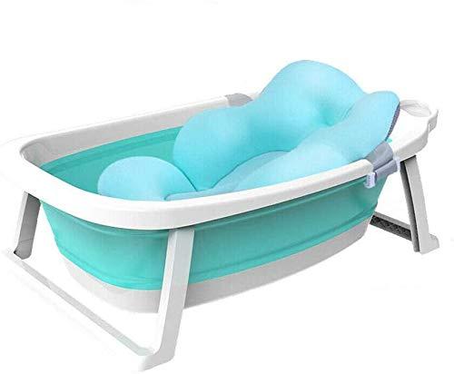 Blcnk Chi Bañera Plegable de Bebe con Cojín - Plegado Ultra Compacto - Foldable Baby Bath, Baby Bath 0-36 Months Baby Bath Tub with Cojin Reductor Incluido.