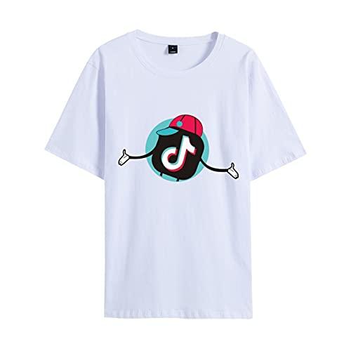 Camiseta Clásica De Manga Corta TIK-Tok De Verano para Hombres Y Mujeres Camiseta Deportiva para Ejercicios De Gimnasio Muscular Camiseta Ropa Deportiva Al Aire Libre 4XL
