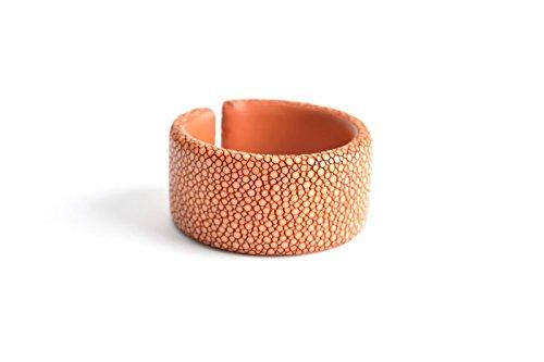 Armband 'Gigi' Rochenleder Armreifen orange Damen Leder Arm-Reif Armspange Armschmuck für Frauen