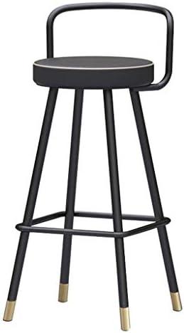 YUXO-COWER Tabouret de Bar Modern Bar Tabourets Comptoir Repose-pieds Chaises De Bar Dossier Tabourets Noir Debout Chaise (Size : 50cm)