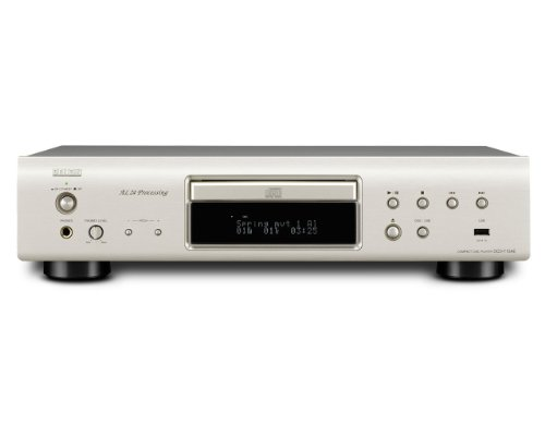 Denon DCD 710 AE CD Player  (CD/MP3/WMA-Player, Aluminium Frontbelende, USB, iPod/iPod direkt) premium silber
