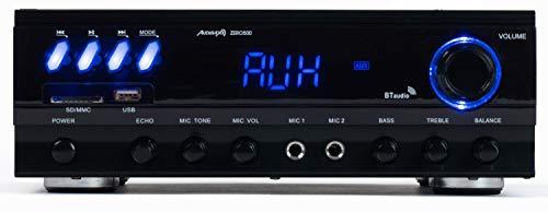Audibax Zero 500 - Amplificador HiFi, Receptor Bluetooth Incorporado,...