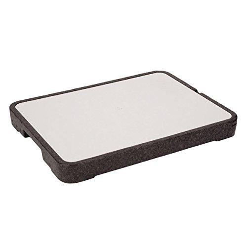 Kühlplatte Servierplatte, mit Kühlakku, Edelstahl-Platte, 39 x 29 cm - Buffett Kühl kalt Kühltablett kalte Speiseplatte