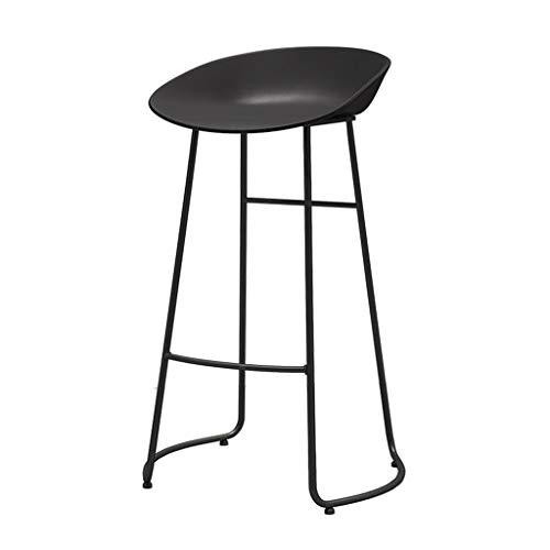 Chaise de Petit Déjeuner Hautes Tabouret de Bar à Manger Petit déjeuner Chaise Haute Tabouret Fauteuil Confort Cuisine Comptoir Petit-déjeuner (40x43x65 / 70/75) Cm (Couleur : Noir, Taille : 70cm)