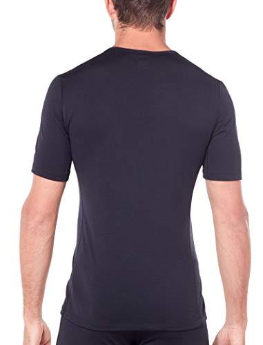 Icebreaker Herren 200 Oasis SS Crewe T-Shirt, Black, S - 3