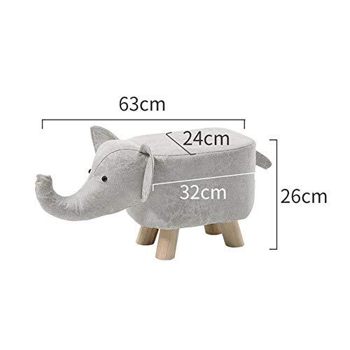 LYXIANG Forma Animal Poggiapiedi Bambino Adulti Pouf Imbottiti Cuscino Poggiapiedi Sgabello Resto Sede del Sofà Sedia (Grigio Elefante),B