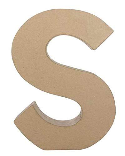 Decopatch Papel maché diseño de Letra s, marrón