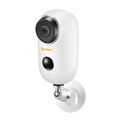 Anlapus 1080P Cámara de Vigilancia WiFi Exterior con 2 Baterías Recargables, 10M Visión Nocturna, Voz bidireccional, Detección PIR