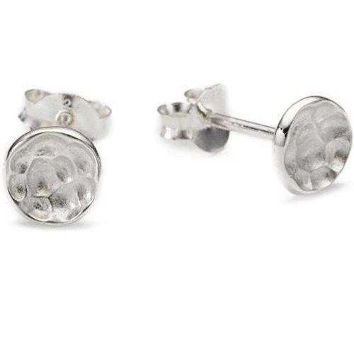 Vinani Ohrstecker Kreis klein gehämmert Sterling Silber 925 Ohrringe ORH