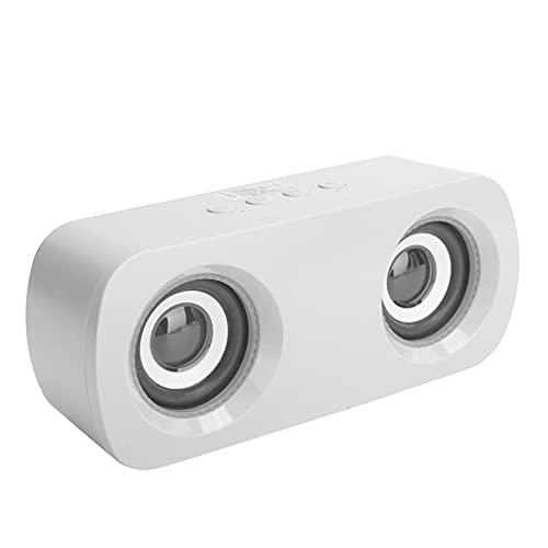 Dpofirs Altavoz portátil Bluetooth A9, minialtavoz Multimedia de Audio Inteligente de 3 W, tecnología Bluetooth 5.0, Alcance inalámbrico de 10 Metros, micrófono Integrado, reducción de Ruido(Blanco)