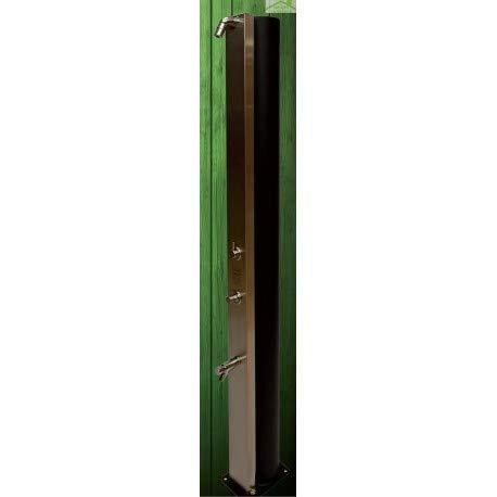 CRM - Ducha de Piscina Solar Ultimate, Ducha Exterior 40 L con Enjuague y pies temporizados, Colores a Elegir, Marron Rustique