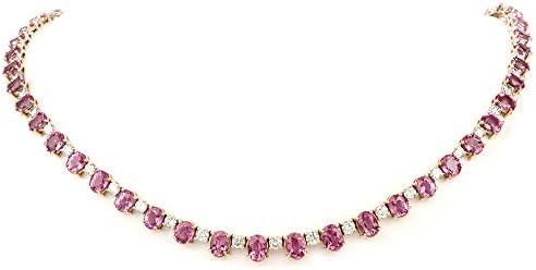Pink Sapphire Diamond 18K Gold Choker Necklace product image