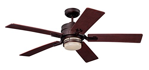 Emerson Ceiling Fans CF880BS Amhurst Indoor Ceiling Fan with Light And Wall Control, 54-Inch Blades,...