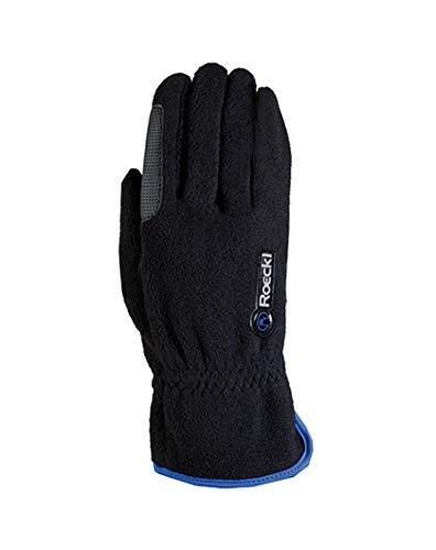 Roeckl Sports Junior Winter Handschuh Kairi, Kinder Reithandschuh, Schwarz/Blau, 5