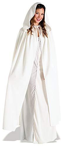 Women's Long White Medieval Cloak  Look