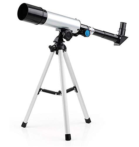 ZTBXQ Suministros de Equipo para Acampar Telescopio astronómico para niños HD Sistema de observación Profesional de Estrellas Óptico: refractivo Abertura de Entrada de luz: 400 mm Longitud Focal: 360