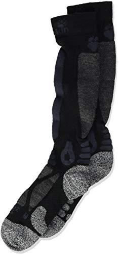 Jack Wolfskin Ski Merino High Cut Chaussettes Mixte Enfant, Black, FR : XS (Taille Fabricant : 34-36)