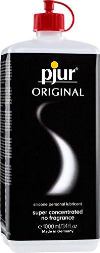 pjur ORIGINAL - Premium Silikon-Gleitgel - lange Gleitfähigkeit ohne zu kleben - sehr ergiebig und für Kondome geeignet - 1er Pack (1 x 1000 ml)