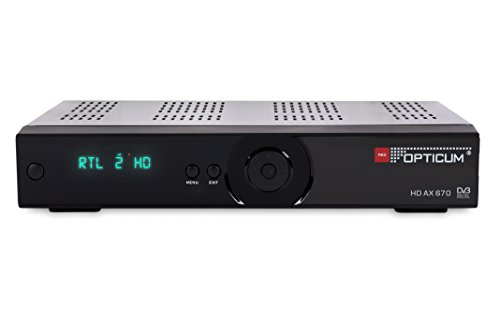 Opticum HD AX 670 PVR HD-TV-Satellitenreceiver schwarz