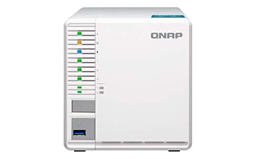 QNAP TS-351-4G 3-Bay RAID-5 NAS-System, zwei M.2 SSD Steckplätze, weiß