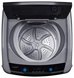 Portable Washing Machine, 0.9 cu.ft Compact Washer with LED Display, 5 Wash Cycles, 2 Built-in Rollers, Space Saving Full-Automatic Washer,0.9 Cubic Feet-Magnetic