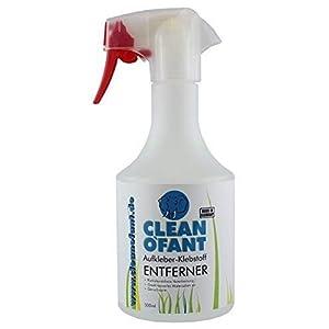 Cleanofant Pegatina + Klebstoff-Entferner 500ML Spray – Quitar de Klebstoffresten, Dichtstoffen, Silikonöl. Soltar Von ,Pegatina,Lámina,Etikett. para Charol, Metal, de Plástico, Vidrio,