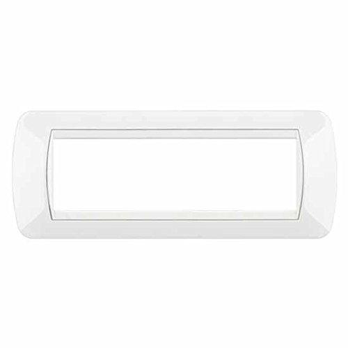 BTicino L4807BI Living International Placca 7 Moduli, Bianco