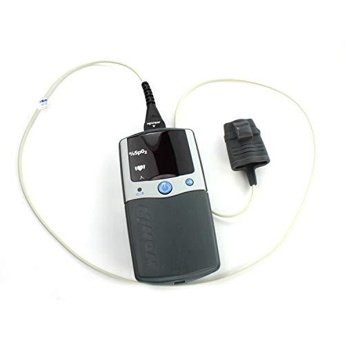 Nonin in gepolsterter Tasche 2500A Pulsoximeter mit Sensor 8000AA + Alarm für professionellen Gebrauch