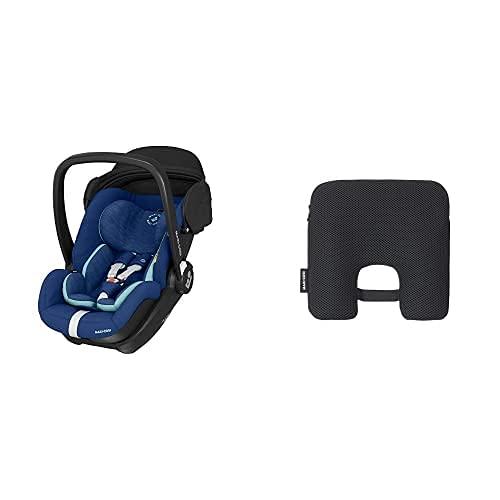 Maxi-Cosi Marble Silla de coche para bebé de grupo 0+, silla de auto reclinable con base isofix incluida,desde nacimiento hasta 13 meses, i-size, Azul + Dispositivo antiabandono para silla de coche