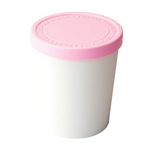Tovolo Tight-Fitting, Stack-Friendly, Sweet Treat Ice Cream Tub - Pink