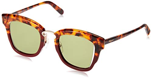 SALVATORE FERRAGAMO Gafas de Sol SF 886S Red Havana/Green 48/24/145 mujer