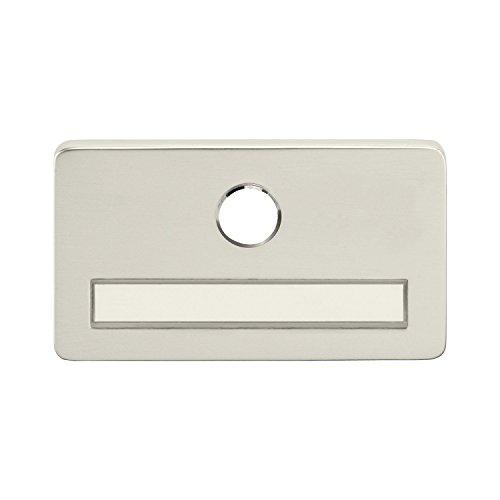 Solido Namensschild | Türschild für Haustür mit Aussparung für Türspion, satninierter Edelstahl, Selbstklebend