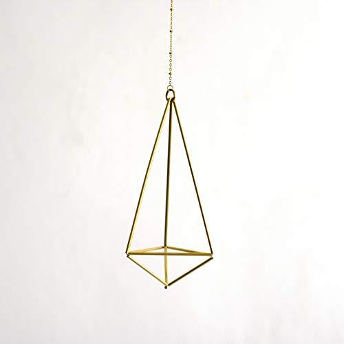 Fuxigold colgante para planta de aire Hexahedron No01, Himmeli para clavel del aire