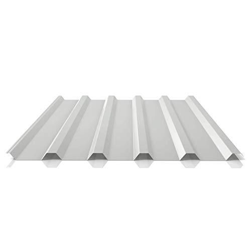 Trapezblech   Profilblech   Dachblech   Profil PS35/1035TRA   Material Stahl   Stärke 0,50 mm   Beschichtung 25 µm   Farbe Lichtgrau