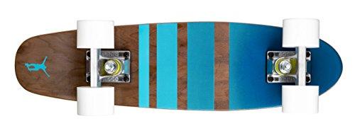 Ridge Cruiser Maple Holz Mini Number Three Skateboard, White, MPB-22-NR3