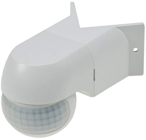 Eck Bewegungsmelder 180° IP44 Aufbau Montage Ecke Wand LED geeignet 12m Reichweite 3-Draht 90° Adapter für Hausecken Weiß