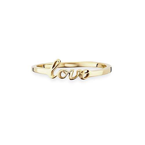 caï love Damen-Ring Love 925 Silber gelb vergoldet 58 (18.5) C7310R/90/00/58