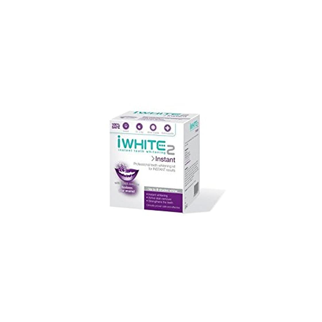 幹連帯感情iWhite Instant 2 Professional Teeth Whitening Kit (10 Trays) - インスタントキットを白く2本のプロ歯(10トレイ) [並行輸入品]
