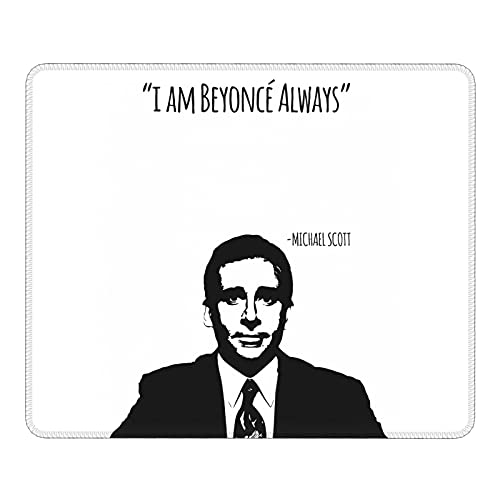 Mich-Ael Scott Paper Com-Pany (2) Mouse Pads Customized Gaming Mousepads for Laptop and Computer Stitched Edges 12.019.84 Inch