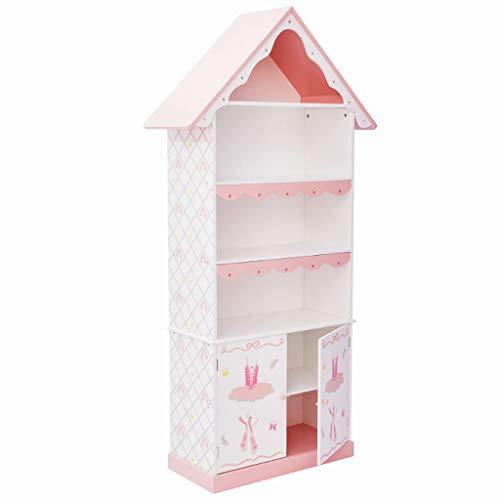 Meubles Bibliothèque Rose Chambre des Enfants bibliothèque Rose Chambre casier Toy Toy Princess étagères de Rangement en Bois, étagères Chambre Fille (Color : Pink, Size : 83cm*31cm*164cm)