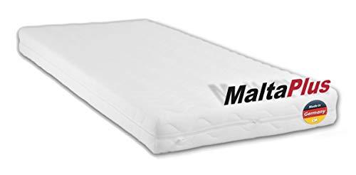 Schaumstoffmatratze MALTA PLUS. Kaltschaum 90 x 200 cm. Matratze RG40 Kaltschaum. Punktelastisch, atmungsaktiv mit waschbarem Frotteebezug. Babymatratze, Kindermatratze, Jugendmatratze 90x200 cm Made in Germany.