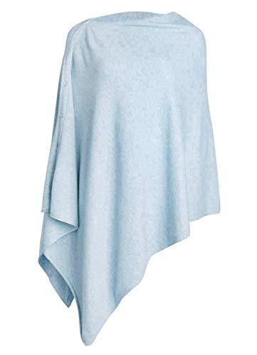 PULI Damen Schal Poncho Decke Cape Cardigan Kaschmir/Kaschmir Wickelschal für Frühling Sommer Herbst, Blau, Gr. Einheitsgröße