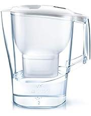 Brita Aluna cool su filtreli sürahi, huni ve sürahi, SMMA, kapak, ABS, 25 x 8,5 x 25 cm, Beyaz, 25 x 10 x 25.5 cm