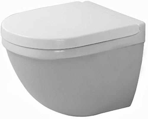 Duravit Wand WC (ohne Deckel) Starck 3 Compact 485 mm, Tiefspüler, Durafix, weiss, 2227090000
