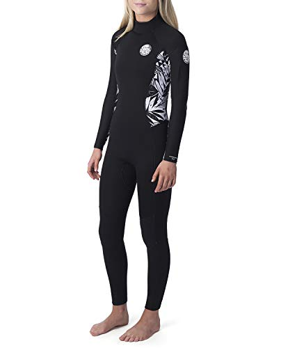 Rip Curl Dames Dawn Patrol 3/2mm wetsuit met Back Zip Zwart Zwart - Easy Stretch Flash Lining