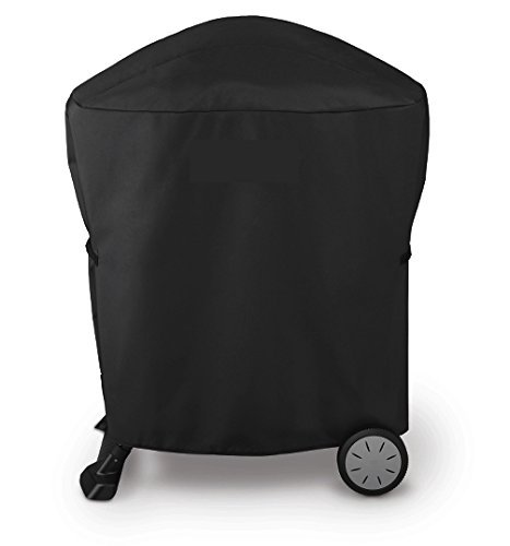 Broilmann Grill Cover for Weber Q 100/1000 and 200/2000 Series with Q Portable Cart, Heavy Duty and Waterproof 600D Grill Bag, 7113 Grill Cover