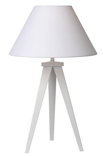 Lucide 42502/81/31 Lampe de Table Métal 18 W E27 Blanc 9,5 x 10 x 40 cm