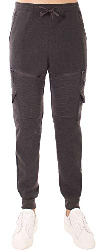 stylx Herren Hosen Hose Sporthose Trainingshose Cargo Pants Jogginghose Sweatpants Jogger Mode Freizeit Laufen Streifen Enger Beinabschluss (dunkelgrau Biker, L)