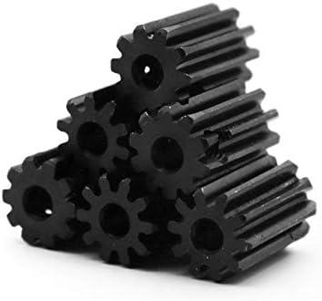 Bore 7mm BAIJIAXIUSHANG 1M Spur Gear 10 12 14 Teeth 4//5 //6//6.35//7mm Bore 45# Steel Black Surface Pinion 10T-14T Metal Transmission Gears 1pc Number of Teeth : 1M 12T
