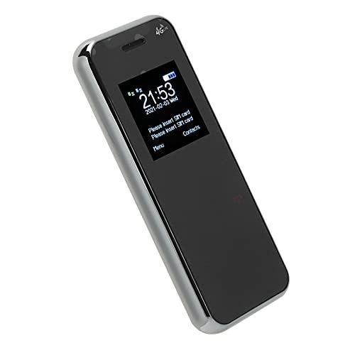 Qinyayoa Teléfono móvil de los niños, números de la Familia del teléfono de la Barra del diseño 32MB + 32MB de Moda para los niños para los niños(Black)